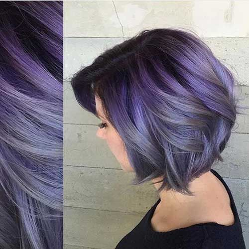 20 Charming Short Hair Color Ideas Nicestyles In 2020 Peekaboo Hair Peekaboo Hair Colors Thick Hair Styles