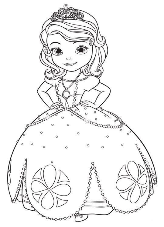Dibujos Para Colorear De La Princesa Sofia Buscar Con