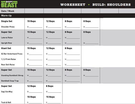Body Beast  Build Shoulders Review  Chris Balmert  Workout