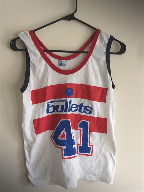 Vintage 80's NBA Washington Bullets Wes Unseld Coca Cola Coke Promo Jersey - Size Small by JourneymanVintage on Etsy