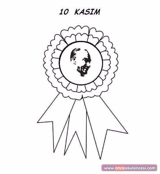 Ataturk Ve 10 Kasim La Ilgili Boyama Cerceve Ve Celenkler