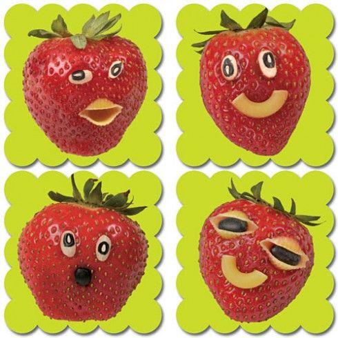Pegatinas de incentivos con imágenes reales y olor a fresa.