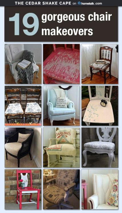 19 Gorgeous Chair Makeovers!