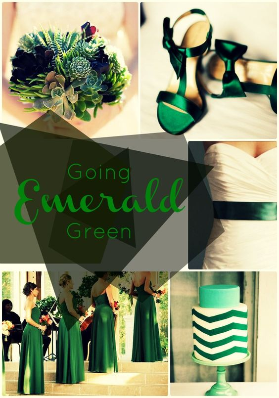 Going Emerald Green 2013 39 S Top Wedding Color In Action