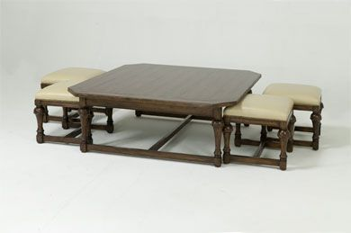 Square Coffee Table With Ottomans Galleryhipcom The