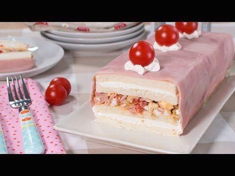 Pastel Frío De Pan De Molde Relleno De Jamon York Y Queso Tarta Salada Fácil Y Rápida 1002 Food Vanilla Cake Cake