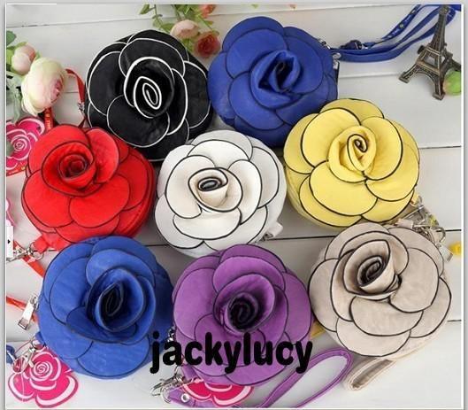 Nouveau Style Femmes Coréennes # 039; En Cuir Sac À Bandoulière Fleur Rose Messenger Bag Mode Packet