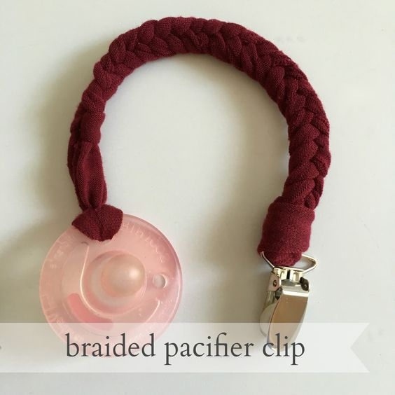 """Pacifier clips are a mandatory baby item around here.   And they've also always been on the """"easier to buy"""" list in regards to a proje..."""