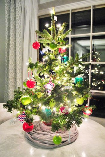 Decorating Our Tabletop Tree With Handmade Ornaments Small