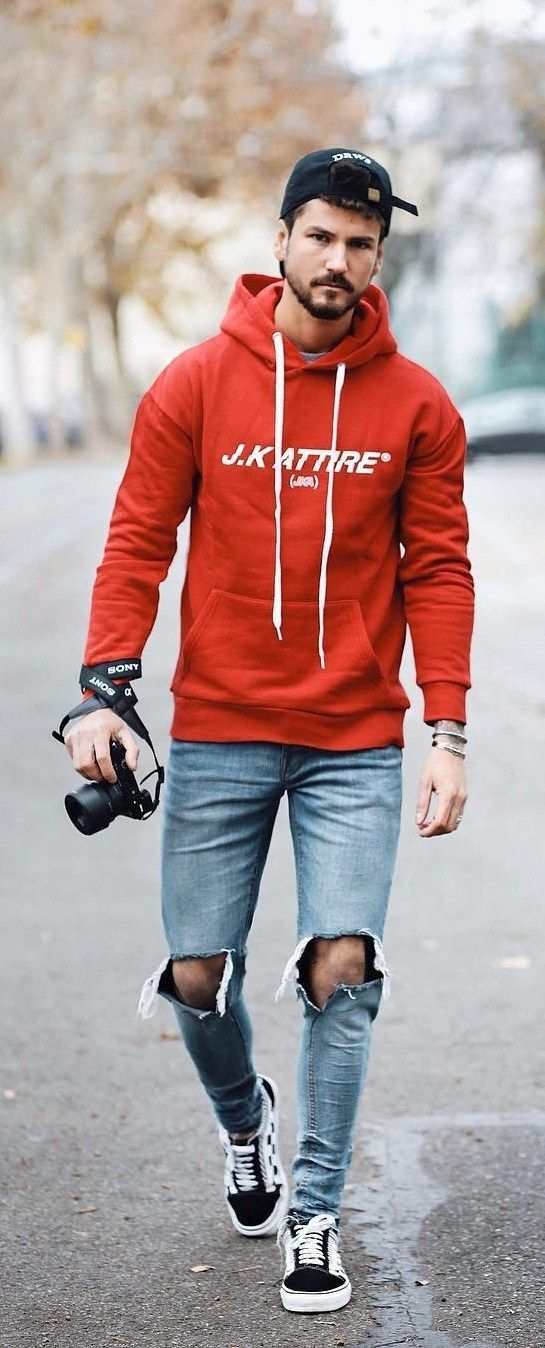 Street Style Guide For Men To Wear Hoodie | Hoodie outfit men, Hoodies men  style, Mens fashion suits casual