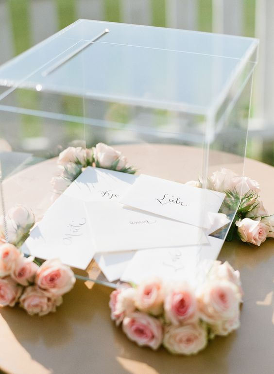 Card boxes Letters and Boxes – Modern Wedding Card Box