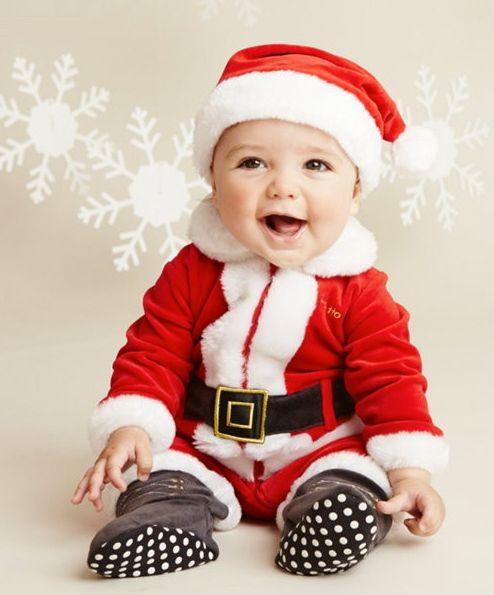 Disfraz navideño de bebé.