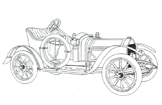 1924 Marmon Classic Old Car Coloring Pages | line art cars ...