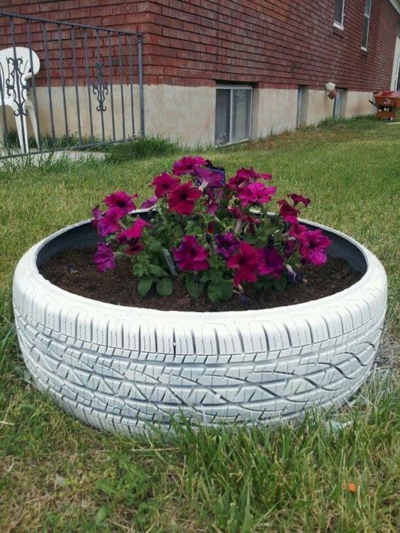 Diy Garden Decor Tire Planters