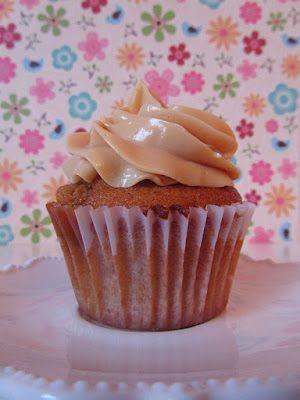 cupcakes de toffee y caramelo