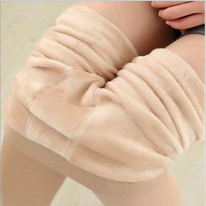 Newest Sexy Women Cotton Wool Thick Pantyhose Women Foot Seamless Elastic Wool Stockings Winter Warm Velvet Stovepipe Tights