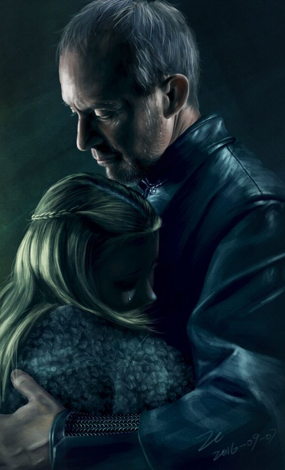 Melancholic Illustration of Stannis Baratheon and Shireen by Chong Zhang Like us…