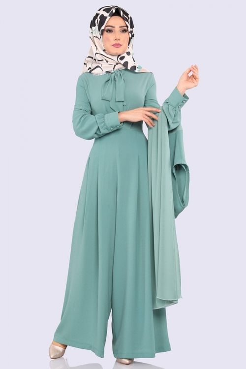 Modaselvim Ozel Gun Tesettur Tulum Kombinleri Moda Tesettur Giyim Moda Moda Stilleri The Dress