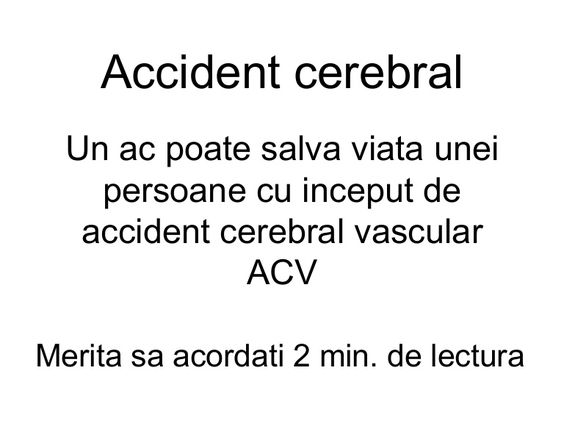 Atac cerebral