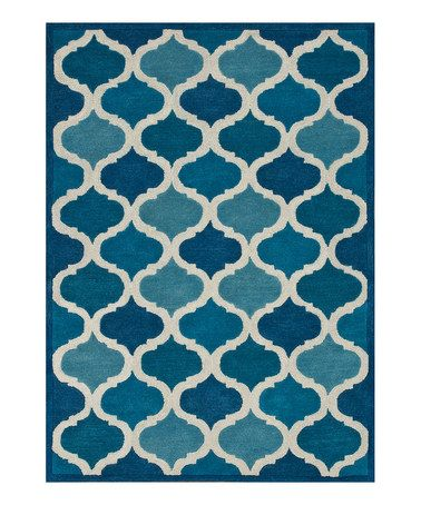 Another great find on #zulily! Blue Cobalt Wool Brighton Rug #zulilyfinds