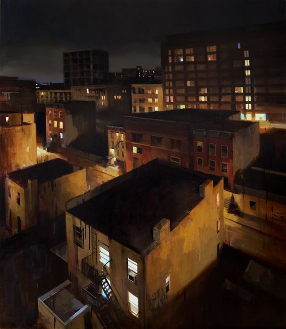 KIM COGAN :: Williamsburg Midnight (oil on canvas) at City and Soul - November 5th - 28th, 2009