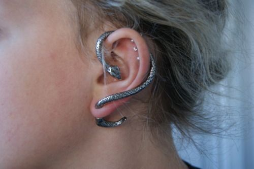 Snake earing, so different but I like it