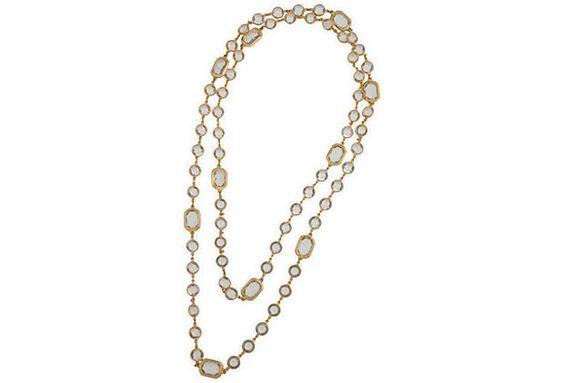 Vintage Crystal Sautoir Necklace on OneKingsLane.com