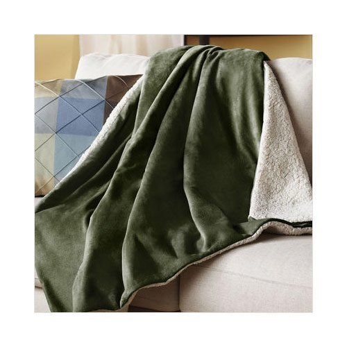 A Green Throw Blanket For Living Rooms And Bedrooms Throw Best Olive Green Throw Blanket