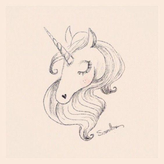 Pin Von Danielle Fleming Auf Tattoo Ideeen Einhorn Tattoos Pferdezeichnung Zeichnung