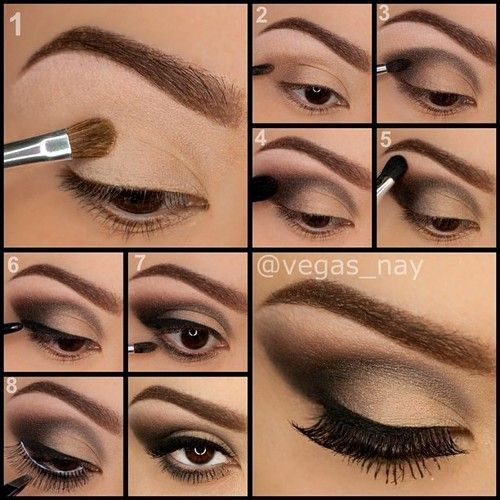 How to apply eye makeup picture step by step