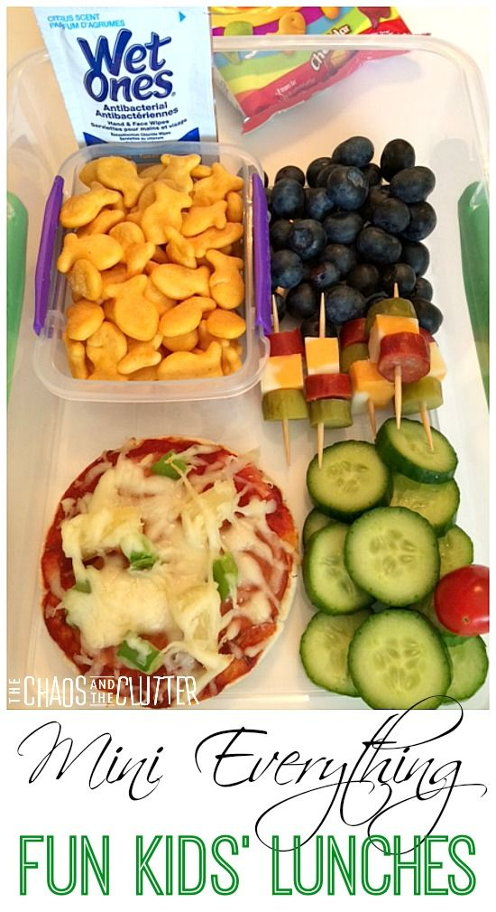 Mini Everything: another way to make kids' lunches more fun - This is a great idea for paleo lunches, just need to make a few substitutions for the things my kids can eat.