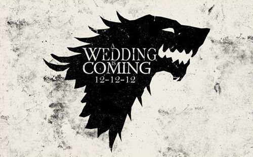 Brace yourselves.... Cool ASoIaF save the date card. not potteresque but i do love me some GoT