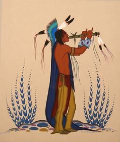 Acee Blue Eagle Man with Flute
