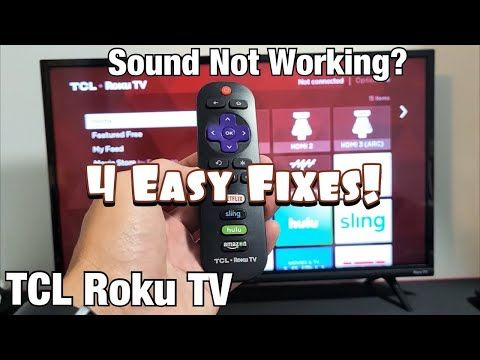 Tcl Roku Tv No Sound Or Audio Is Delayed Or Echoing Fixed 4 Solutions Youtube Tv Roku Solutions