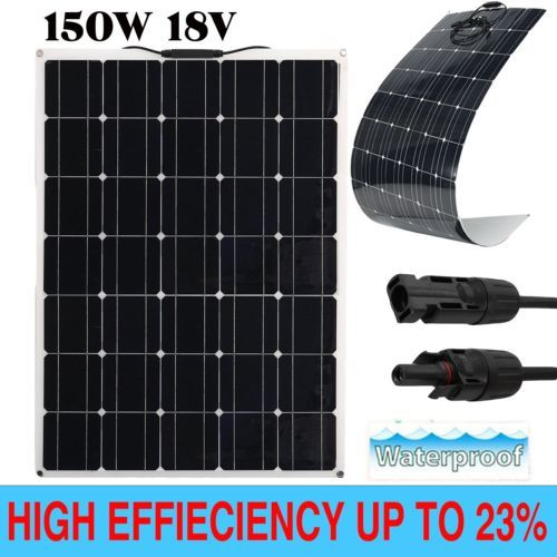 150w A Class Semi Flexible Solar Panel 150watt 18v Battery Charger For Rv Boat E Flexible Solar Panels Solar Panels Solar Panel Charger