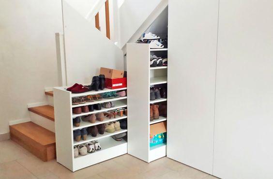 Treppenunterbau, Auszug, Holztreppe mit Stauraum, Aufbewahrung, Platz, Qualität vom Schreiner, Schreinerei Innenausbau Fuchslocher Ilsfeld