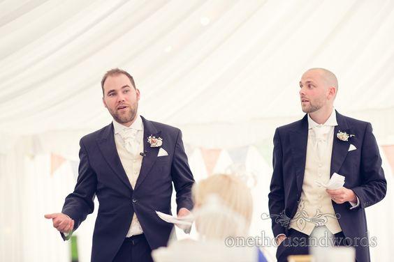 Two Best Men Make Mans Sches At Deans Court Wedding