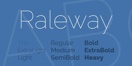 Raleway Font Family · 1001 Fonts