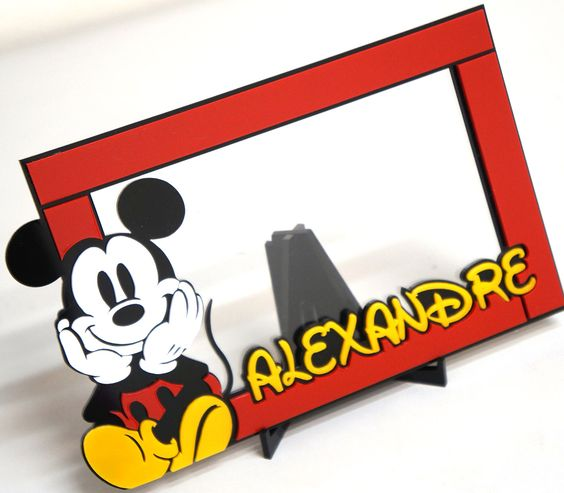 Porta Retrato personalizado Mickey