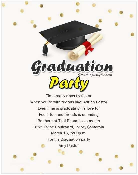 20 Graduation Invitation Quotes And Sayings Simple Template D Graduation Party Invitation Wording College Graduation Party Invitations Grad Party Invitations
