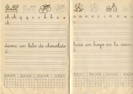 Cuaderno de caligrafía... cuántas tardes