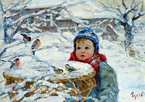 С.Гусев. Снегири