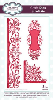 Festive Collection - Snowflake Corner, Border & Tag