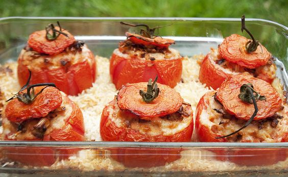 Stuffed tomatoes and Tomatoes on Pinterest