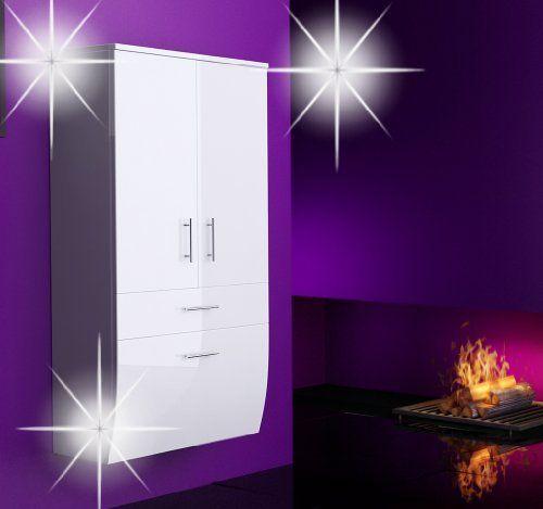 badm bel hochglanz hochschrank badezimmerschrank h ngend h ngeschrank schwarz oder wei wei. Black Bedroom Furniture Sets. Home Design Ideas