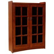 Two Door Mission Bookcase - BCASM002C