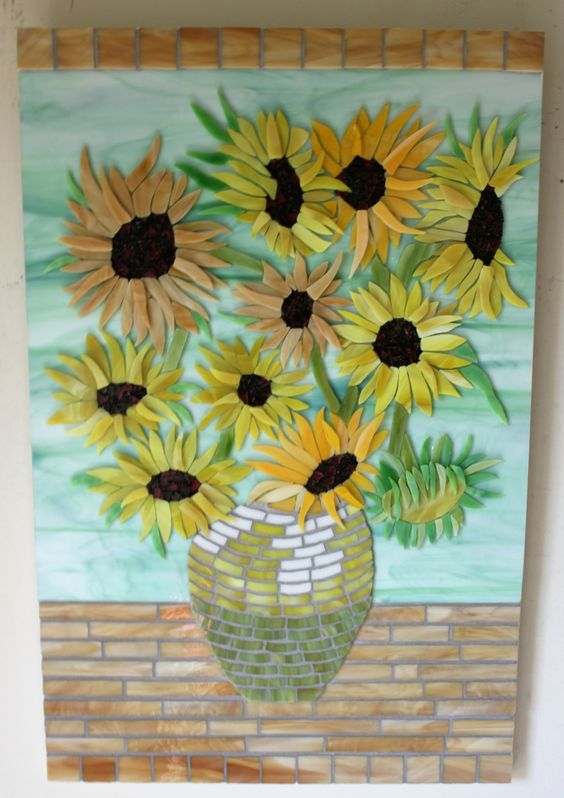 Sunflowers ala Vincent Van Gogh............enjoy!  Available in my etsy store and on eBay.