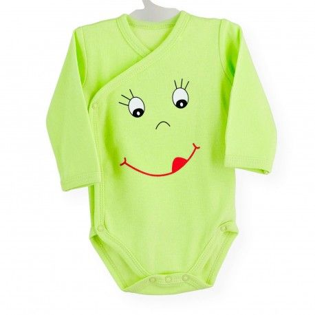 Body Smiley #body #bebe #invierno #cruzado #smiley #verde #kinousses