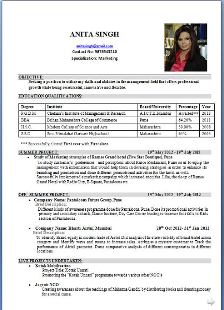 Canadian Cv Format Doc canadian resume example Latter - Abhijit singh Beautiful Curriculum Vitae / CV Format with Career Objective