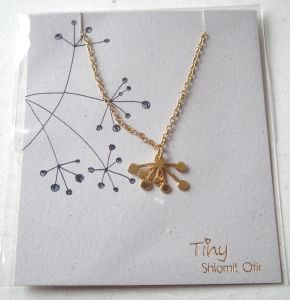 collier TINY chaine fine doré dandelion de Shlomit Ofir